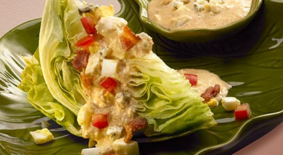 Classic Iceberg Wedge Salad with Blue Cheese Dressing