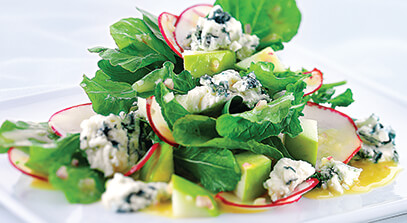 arugula salad with blue cheese