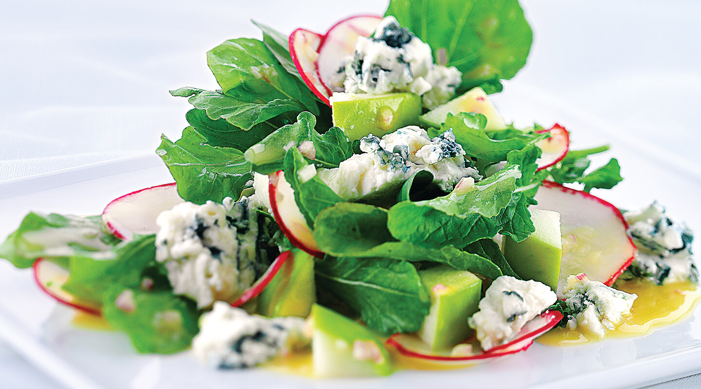 Wisconsin Cheese Arugula Salad with Blue Cheese Recipe