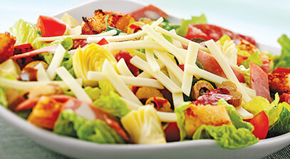 Muff-a-lotta Salad with Provolone Cheese
