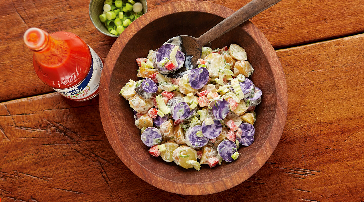 Wisconsin Cheese Potato Salad with Quark Ranch Dressing recipe