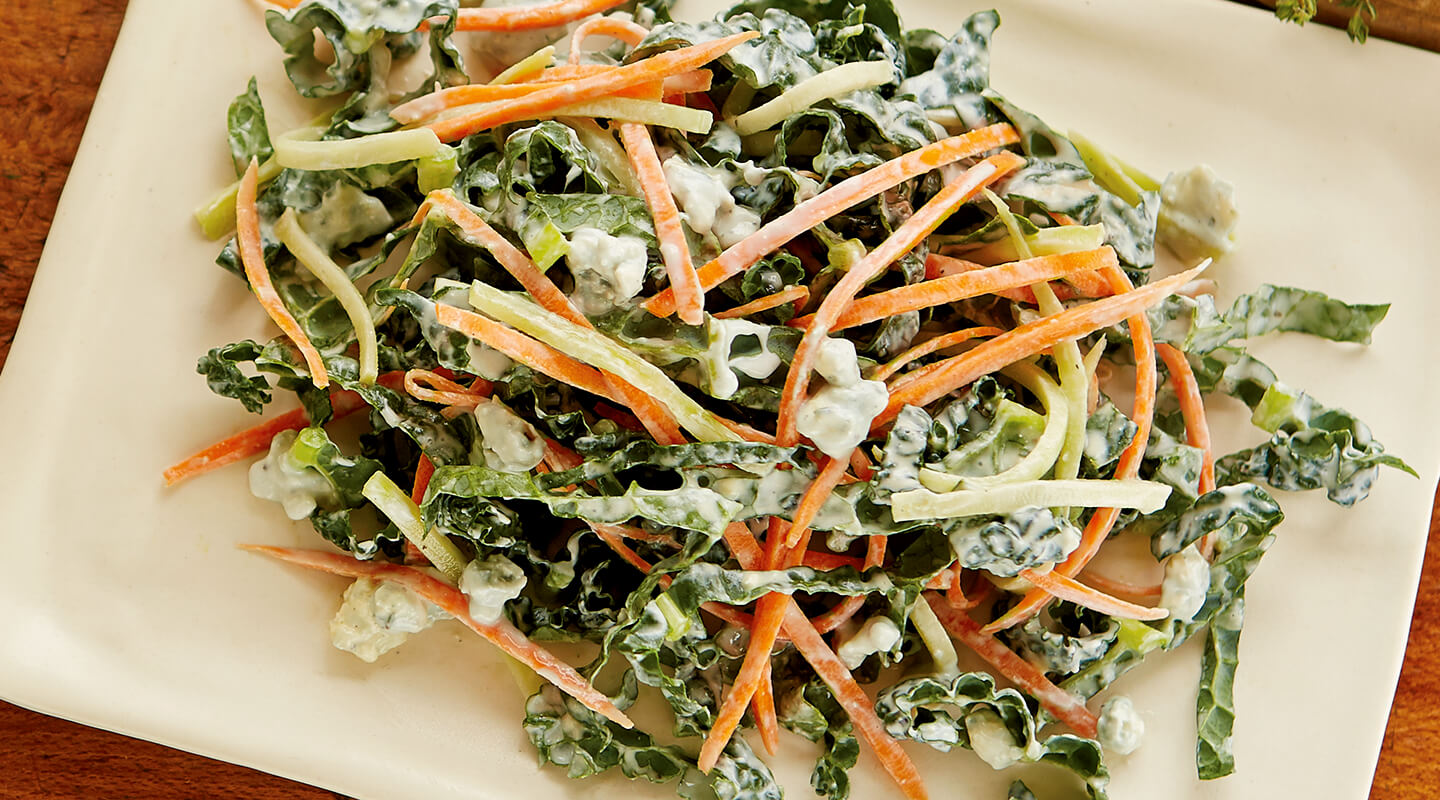 Wisconsin Cheese Broccoli-Kale Coleslaw with Blue Cheese Dressing Recipe