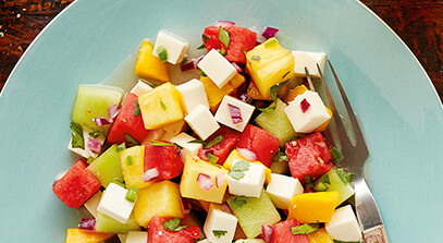 Spicy Watermelon Salad with Queso Fresco and Tequila-Lime Dressing