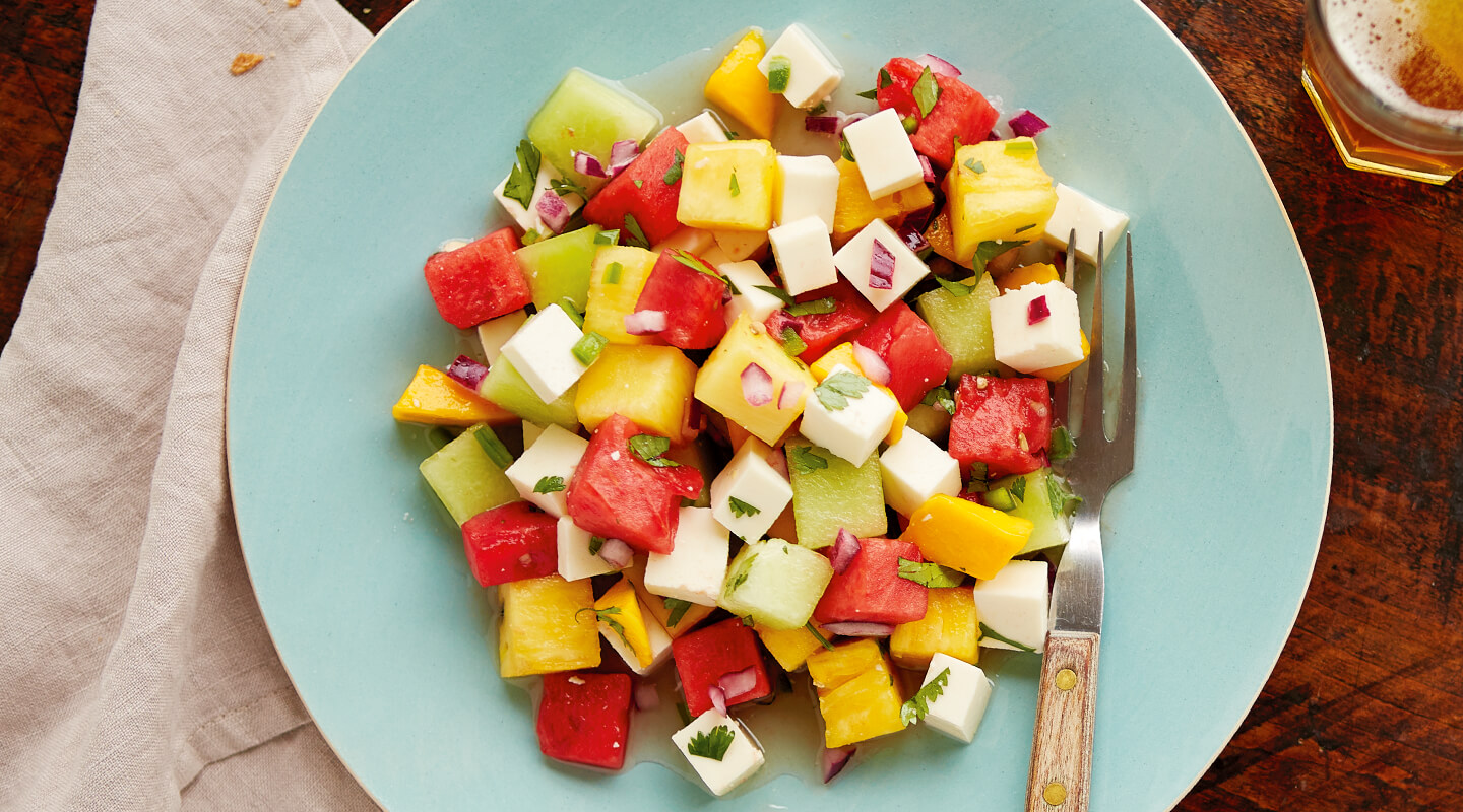 Wisconsin Cheese Tequila-Lime Watermelon Salad with Queso Fresco  Recipe