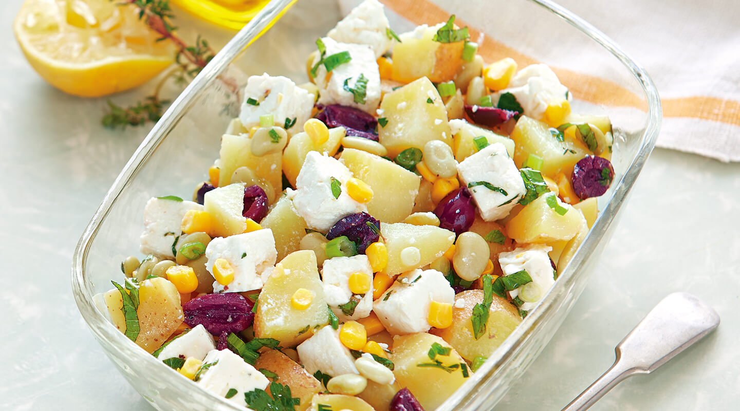 Wisconsin Cheese Garden Veggie-Feta Potato Salad recipe