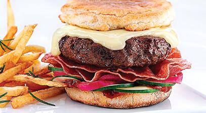 The Yo Burger with Fontina
