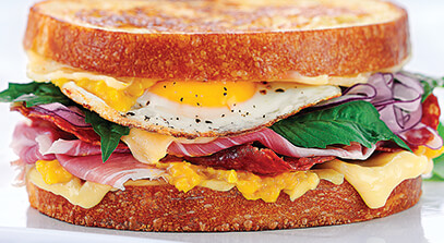 Gourmet Grilled Ham and Cheese with Swiss