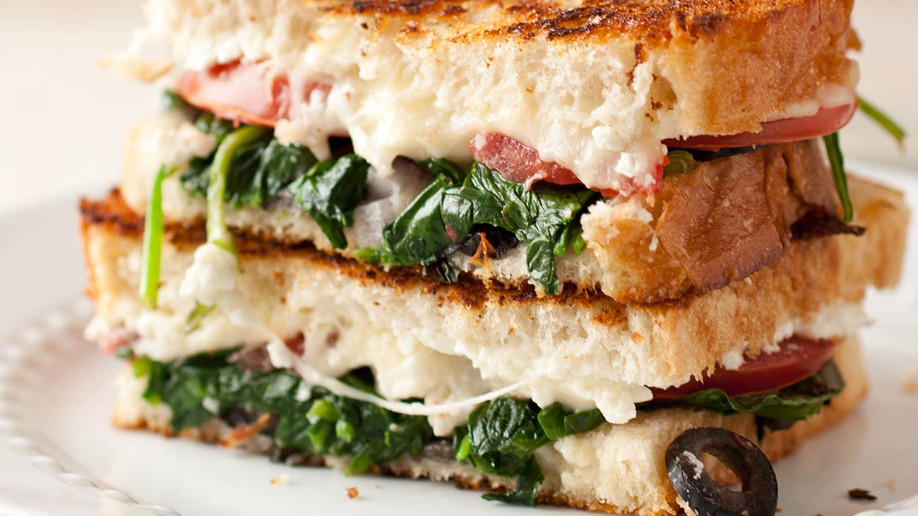 Wisconsin Cheese Mediterranean Grilled Cheese recipe