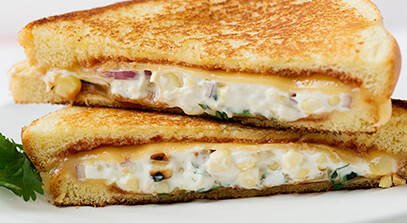 BBQ Corn and Gouda Grilled Cheese