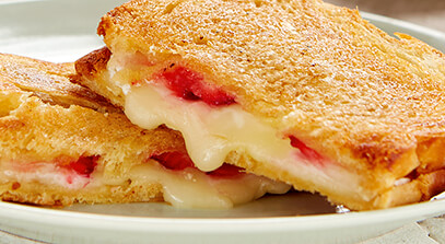 Brie Grilled Cheese with Strawberries and Honey