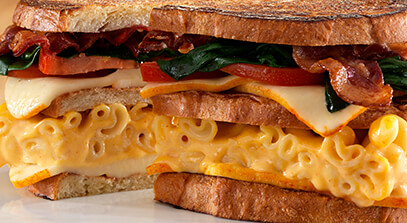 Muenster Monster Mac and Cheese Club Melt