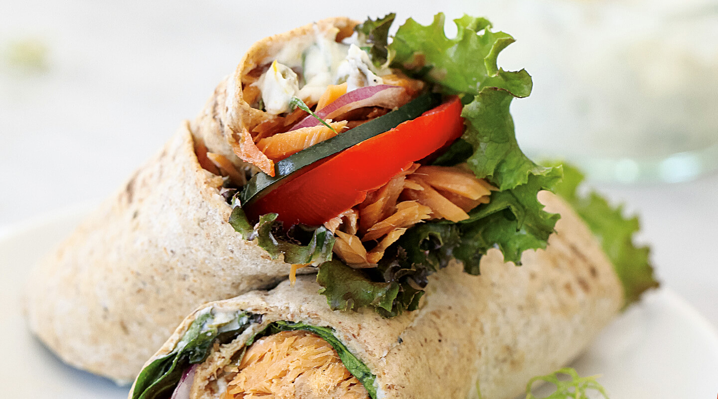 Smoked Salmon Wrap with Whipped Ricotta