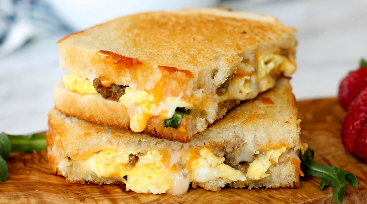 Wisconsin Cheese Breakfast Grilled Cheese recipe