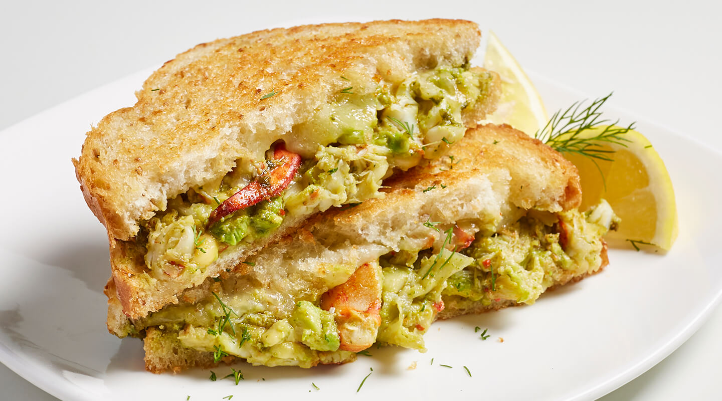 Green Lobster Grilled Cheese