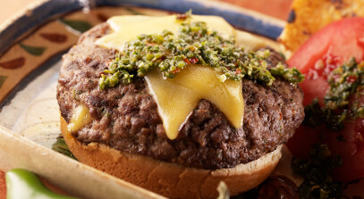Chimichurri Burgers with Gouda Cheese