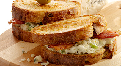 Grilled Blue Cheese and Bacon Sandwiches