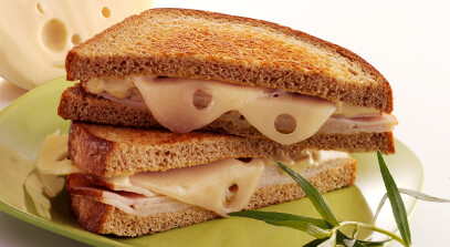 Hot Turkey Dijon Sandwiches with Emmentaler Swiss Cheese