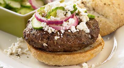 Greek Burger with Feta Cheese