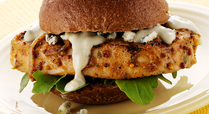 pork sliders with blue cheese sauce