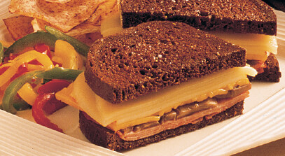 Grilled Three-Cheese and Ham