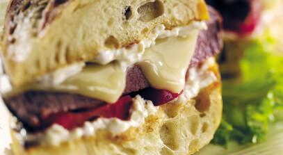 Grilled Tenderloin Sandwich with Fontina