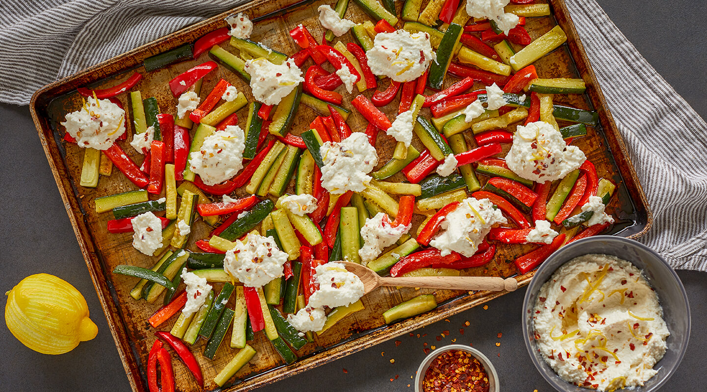 Wisconsin Cheese Roasted Veggies with Whipped Ricotta recipe