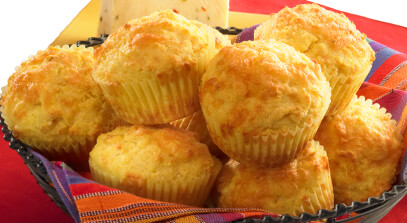 Buttermilk Cornmeal Muffins with Pepper Jack Cheese