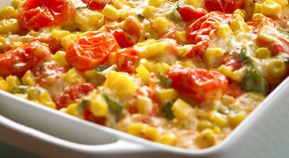 Tomato Corn Bake with Havarti