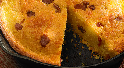 cheddar and hickory-smoked bacon corn bread