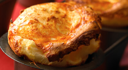 aged cheddar popovers