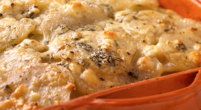 Caramelized Onion Blue Cheese Gratin