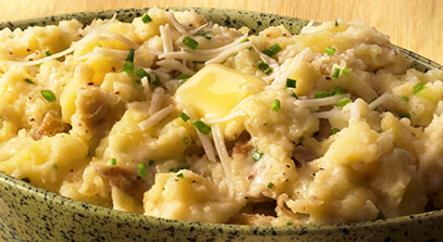 Buttery Mashed Potatoes with Asiago