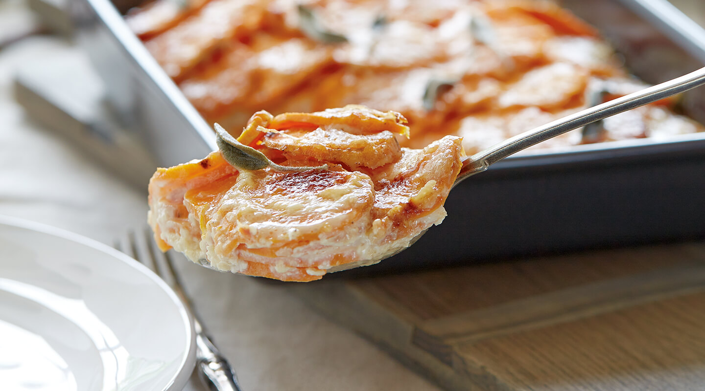 Wisconsin Cheese Sweet Potato Gratin Recipe