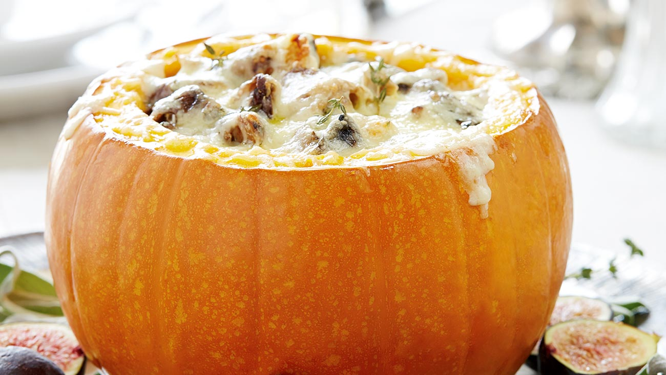 Cheese-Stuffed Pumpkin