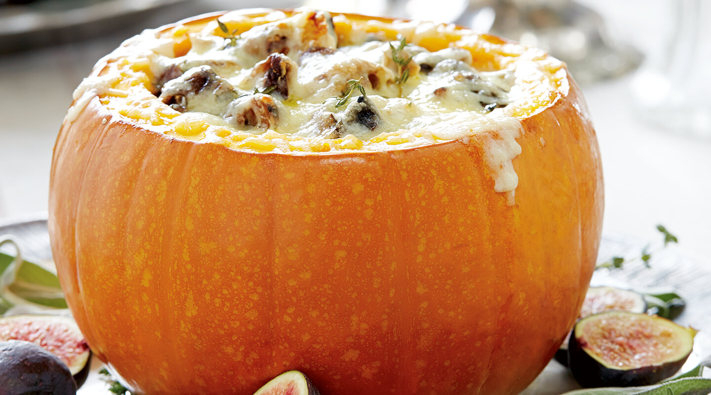 Wisconsin Cheese Cheese-Stuffed Pumpkin Recipe