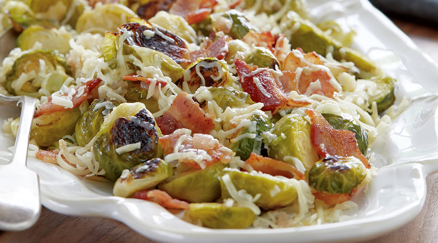 Roasted Brussels Sprouts with Dunbarton Blue®