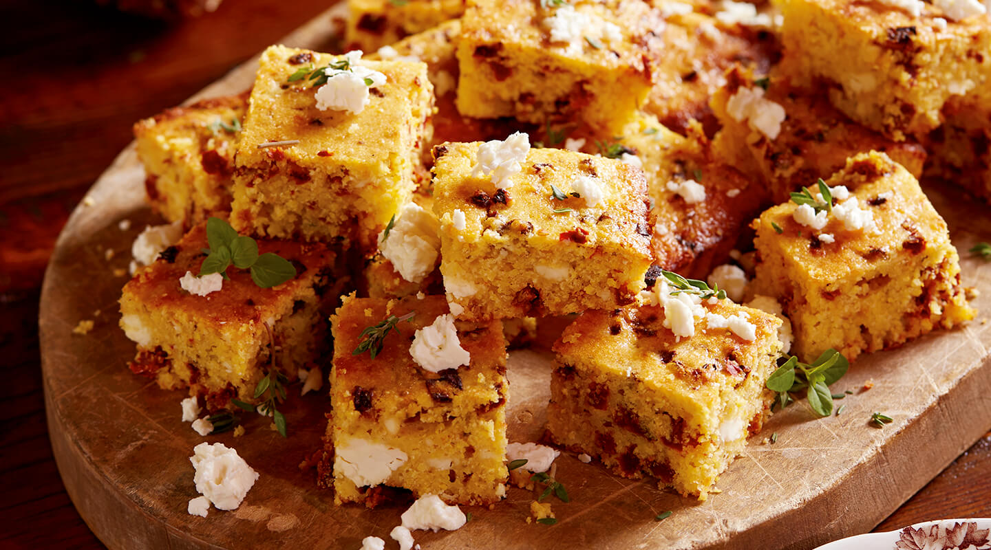 Wisconsin Cheese Sun-Dried Tomato and Feta Corn Bread Recipe