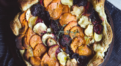 Roasted Vegetable and Brie Tart
