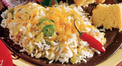Cheese and Green Chili Rice