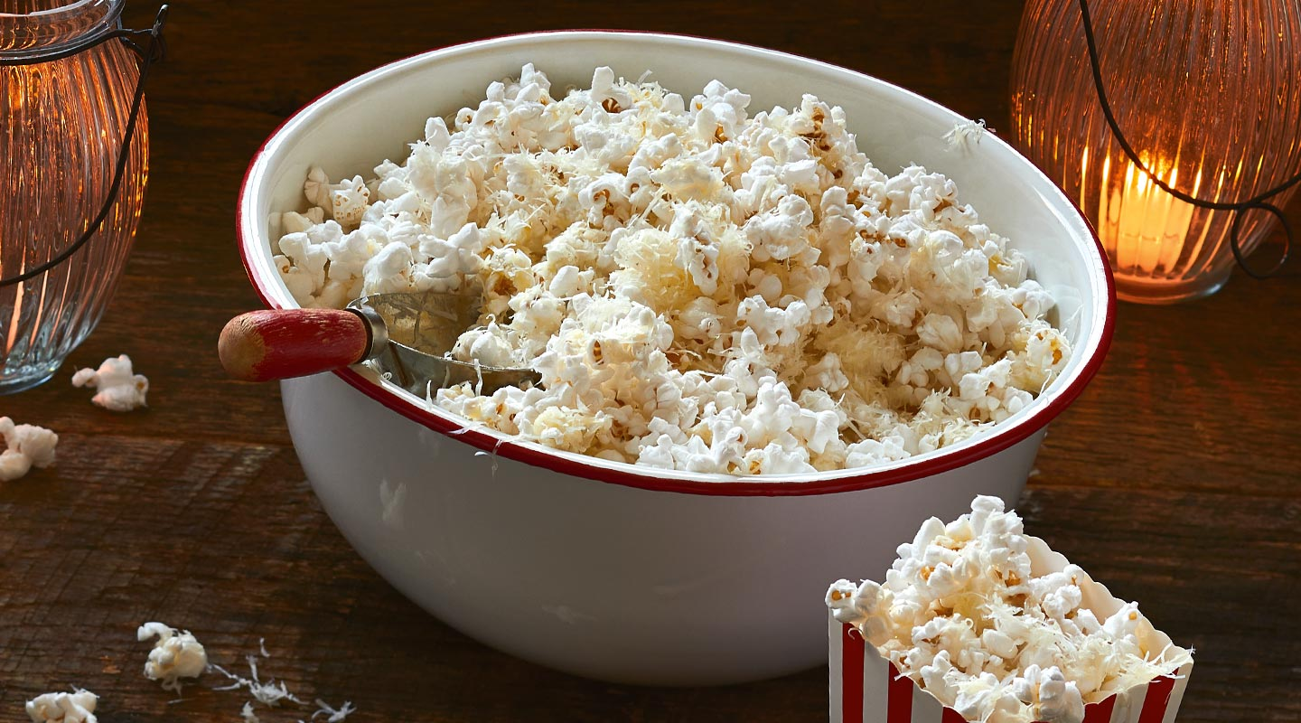 Wisconsin Cheese Three-Cheese Popcorn Recipe