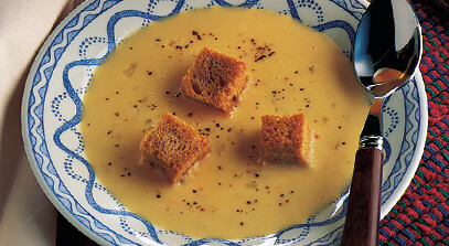 Cheddar, Swiss and Beer Soup