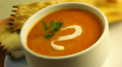 Curried Carrot and Mascarpone Soup