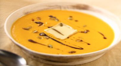 Butternut Squash Soup with Limburger Cheese