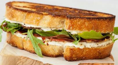 Ricotta and Bresaola Grilled Cheese