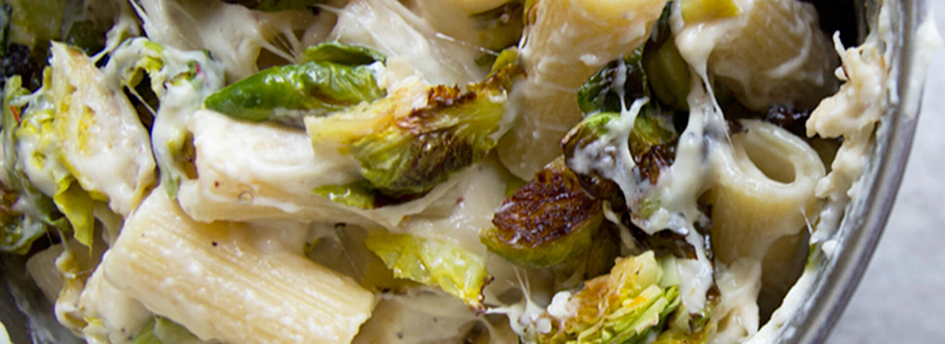 Romano and Roasted Brussels Sprouts Mac and Cheese