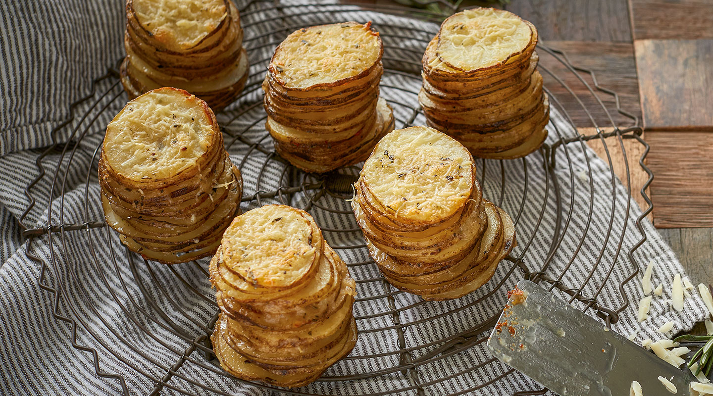 Rosemary-Romano Potato Stacks