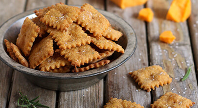 Sweet Potato and Cheddar Crackers
