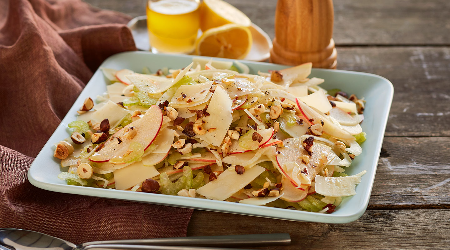 Wisconsin Cheese Shaved Apple-Fennel Salad with Parmesan recipe