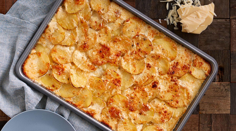 Wisconsin Cheese Sheet-Pan Scalloped Potatoes Recipe