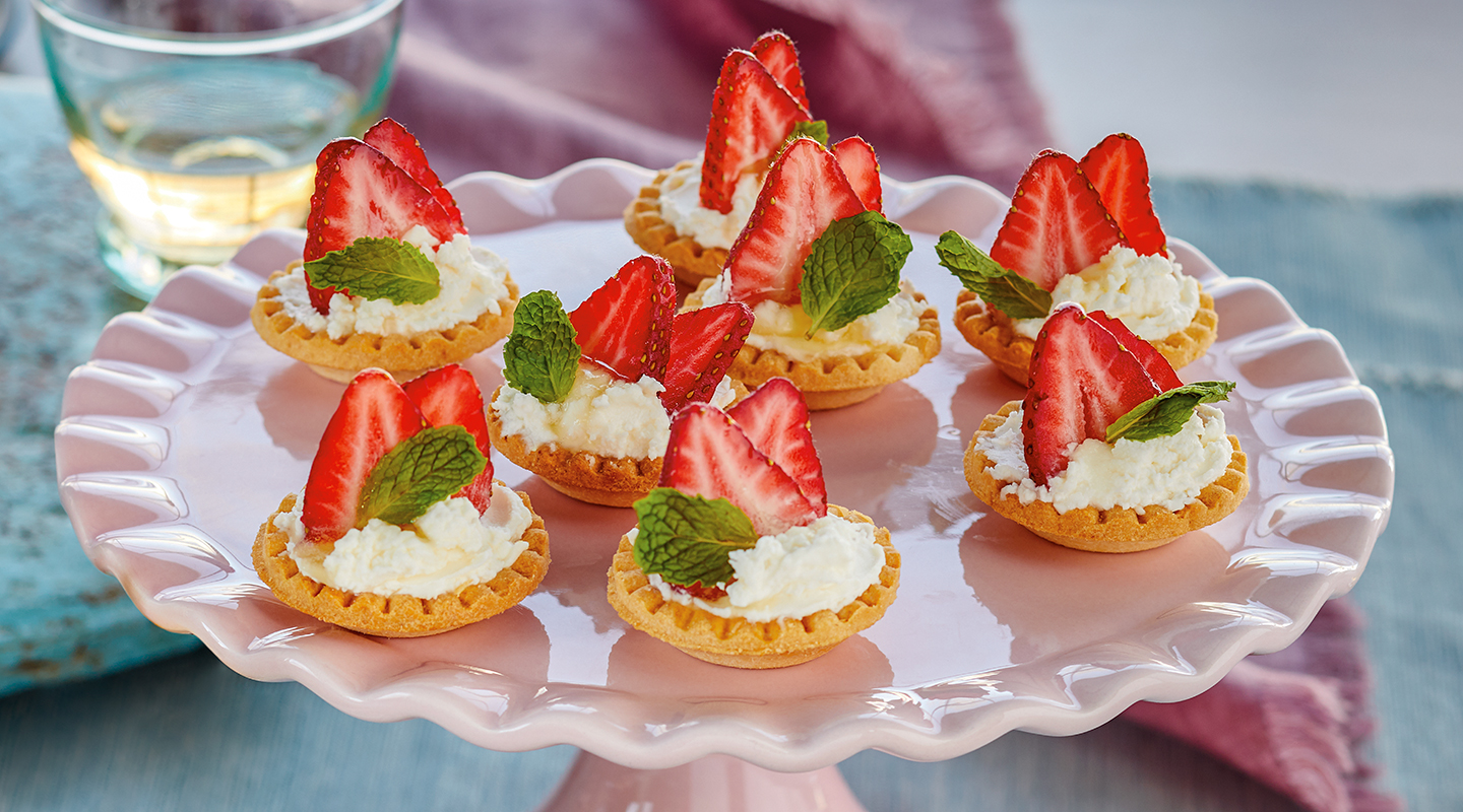 Wisconsin Cheese Strawberry Shortcake Tarts recipe